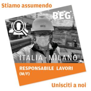 Conducteur Travaux (H/F) Italie – Responsabile Lavori (M/F) Italia