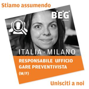 Responsable études de prix (H/F) Italie – Responsabile Ufficio Gare Preventivista (M/F) Italia